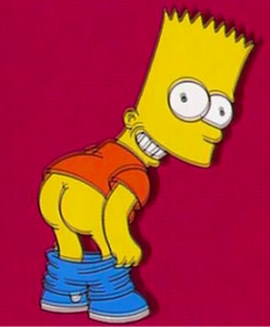 Bart Simpson Mooning
