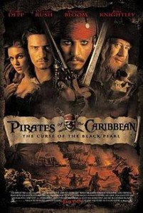 Pirates of the Caribbean poster with Johnny Depp