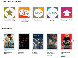 Release Me by J. Kenner on the Nook bestseller list by Gone Girl by Gillian Flynn