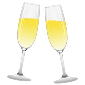 champagne glasses from stock.xchng