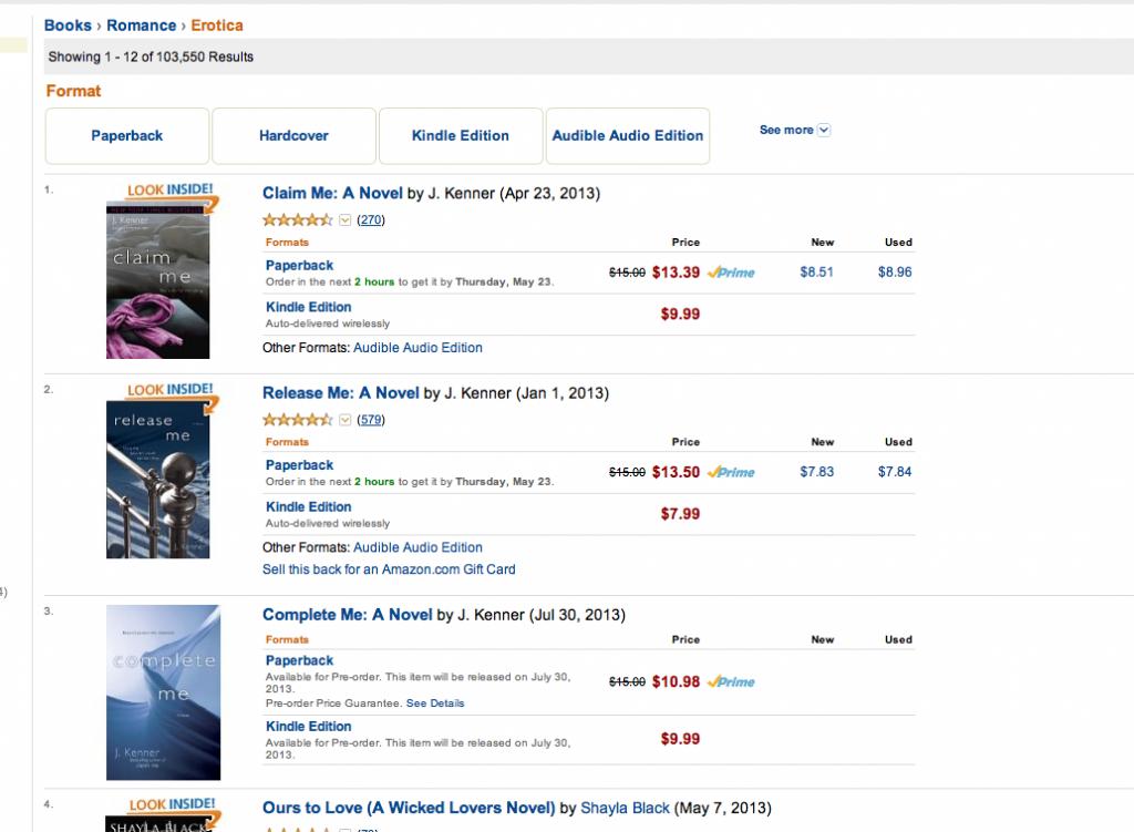 Stark Trilogy Bestselling Erotica