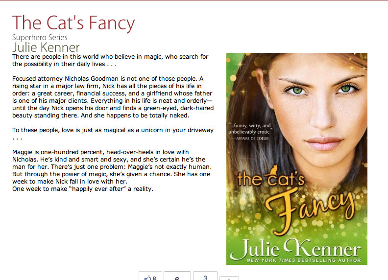 The Cat's Fancy by Julie Kenner - romantic comedy