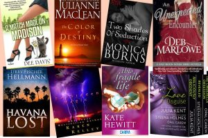 Hump Day books from Dee Davis, Julianne MacLean, Monica Burns, Deb Marlowe, Libby Fischer Hellmann, Karen Kelley, Kate Hewitt and Cathryn Fox in a Love in Disguise boxed set!